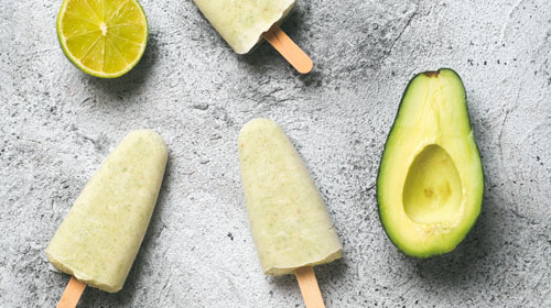 Avocado Eis - Ohne Zucker!