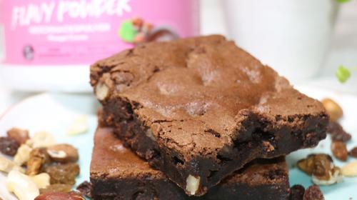 Flavy Süßkartoffel-Nougat Brownies